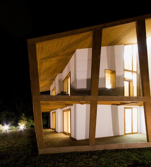 Una casa in legno di quercia!